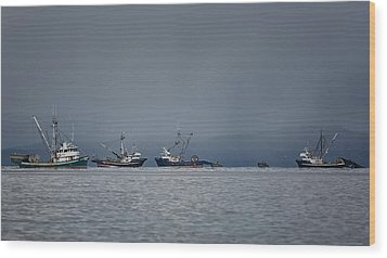 Seiners Off Mistaken Island Wood Print by Randy Hall