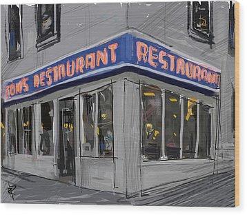 Seinfeld Restaurant Wood Print