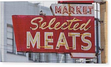 Selected Meats Wood Print