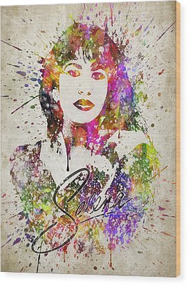Selena Quintanilla In Color Wood Print by Aged Pixel