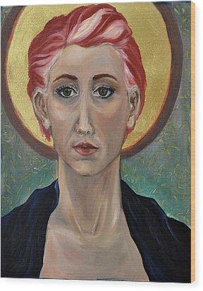 Self Portrait As A Common Saint Wood Print by Amy Rouyer