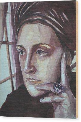 Self-portrait At 30 Wood Print by Aleksandra Buha