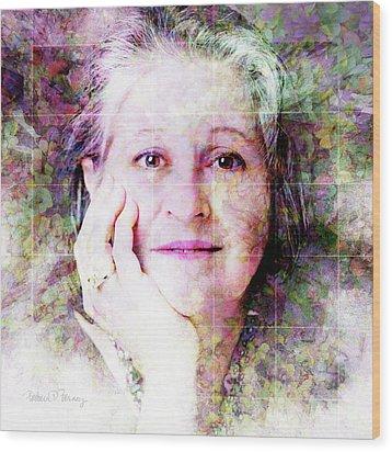 Self Portrait Wood Print by Barbara Berney