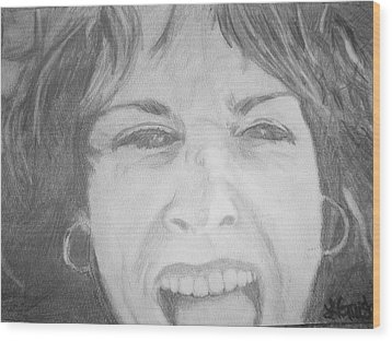Wood Print featuring the drawing Self Portrait by Laura  Grisham