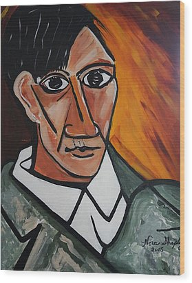 Self Portrait Of Picasso Wood Print