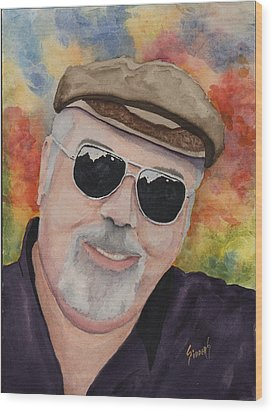 Self Portrait With Sunglasses Wood Print by Sam Sidders