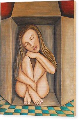 Self Storage Wood Print by Leah Saulnier The Painting Maniac