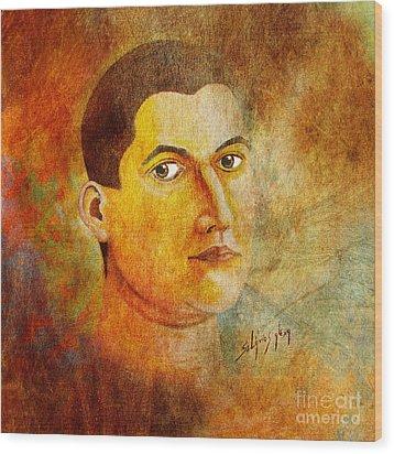 Selfportrait Oil Wood Print by Alexa Szlavics