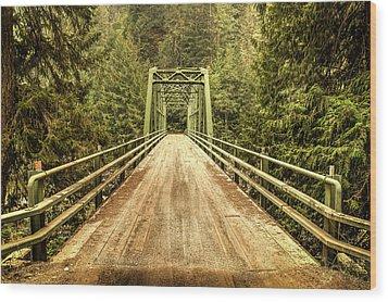 Selway River Bridge Wood Print