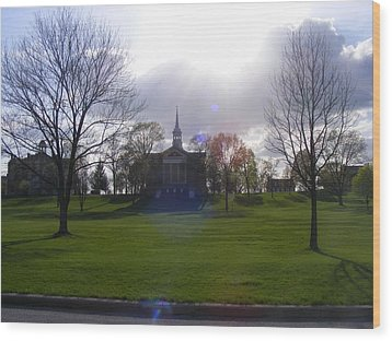 Seminary Ridge Wood Print