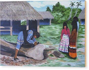Seminole Canoe Wood Print