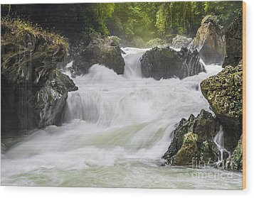 Wood Print featuring the photograph Semuch-champey River And Waterfalls by Yuri Santin