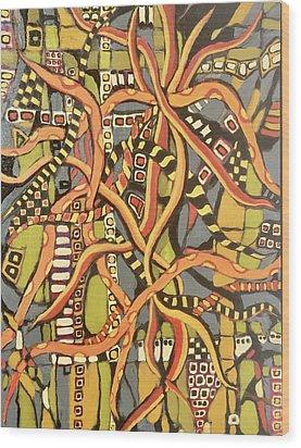 Senderos # 4 Wood Print