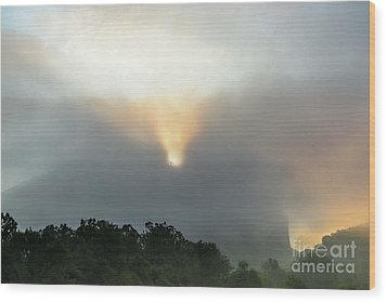 Seneca Rocks After The Storm Wood Print by Dr Regina E Schulte-Ladbeck