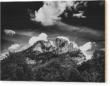 Wood Print featuring the photograph Seneca Rocks II by Shane Holsclaw