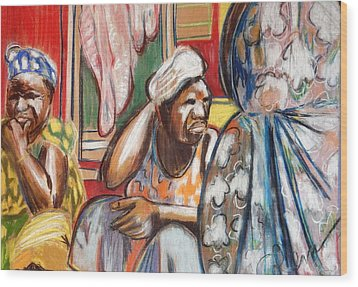 Wood Print featuring the painting Senegal, 1965 by Gary Coleman
