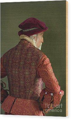 Wood Print featuring the photograph Senior Tudor Man by Lee Avison