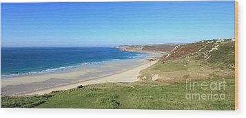 Sennen Cove - Panoramic Wood Print by Carl Whitfield