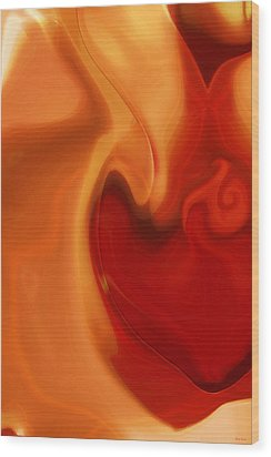 Sensual Love Wood Print by Linda Sannuti