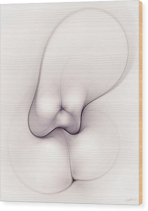 Sensual Manifestations 2 Wood Print by Casey Kotas