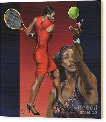 Sensuality Under Extreme Power - Serena The Shape Of Things To Come Wood Print by Reggie Duffie