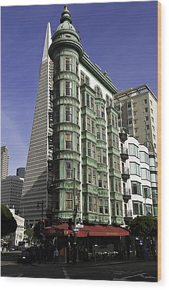 Wood Print featuring the photograph Sentinel Building San Francisco by Paul Plaine