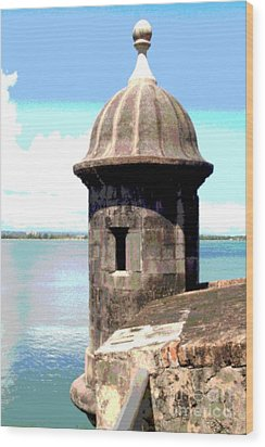 Sentry Box In El Morro Wood Print by The Art of Alice Terrill