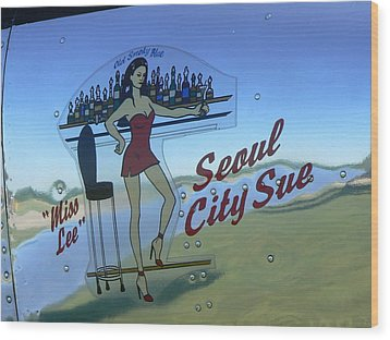 Seoul City Sue Wood Print by Ron Hayes