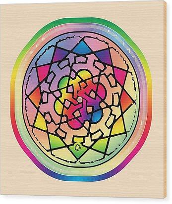 Sephardic Medieval Mandala Wood Print