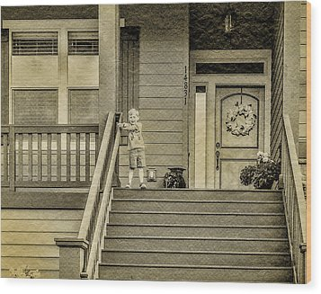 Sepia Wood Print by Photographic Art by Russel Ray Photos