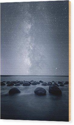 Septarian Concretions Wood Print by Dustin LeFevre