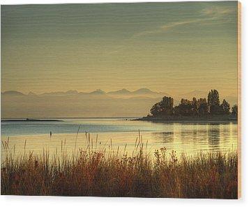 September Morn Wood Print by Randy Hall