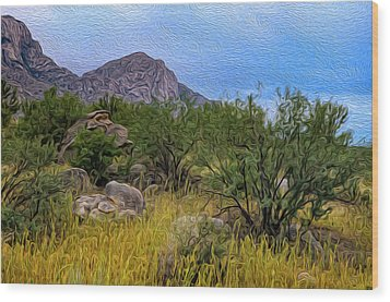 Wood Print featuring the photograph September Oasis No.2 by Mark Myhaver