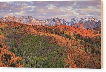 Wood Print featuring the photograph September Snow In The Wasatch Back. by Johnny Adolphson