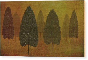 September Trees  Wood Print by David Dehner