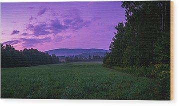 Wood Print featuring the photograph September Twilight by Chris Bordeleau