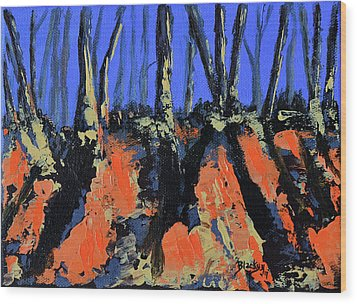 September's Symphony Wood Print by Donna Blackhall