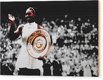 Serena 2016 Wimbledon Victory Wood Print