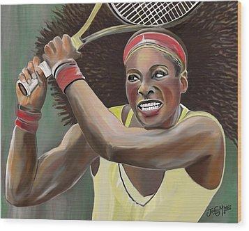 Serena Wood Print by James  Mingo