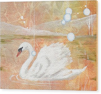 Wood Print featuring the painting Serena's Sanctuary by Jackie Mueller-Jones