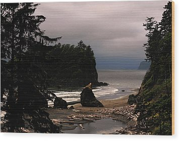 Serene And Pure - Ruby Beach - Olympic Peninsula Wa Wood Print by Christine Till