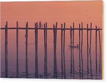 Serene Dawn Wood Print by Marji Lang