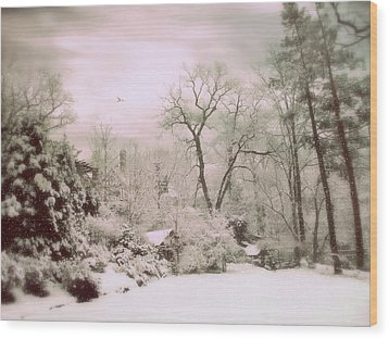 Wood Print featuring the photograph Serene In Snow by Jessica Jenney