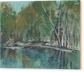 Serene Wood Print by Lee Beuther