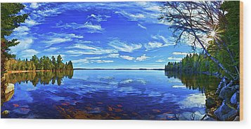 Serene Reflections Wood Print by ABeautifulSky Photography