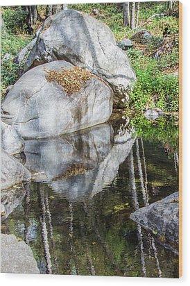 Serene Reflections Wood Print