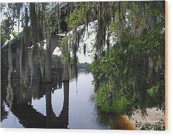 Serene River Wood Print by Gordon Mooneyhan