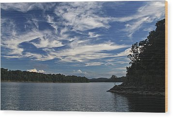 Wood Print featuring the photograph Serene Skies by Gary Kaylor