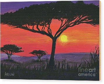 Kalahari  Wood Print