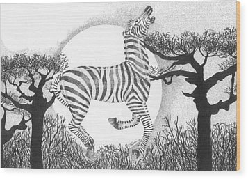 Serengeti Dreams Wood Print by Lawrence Tripoli